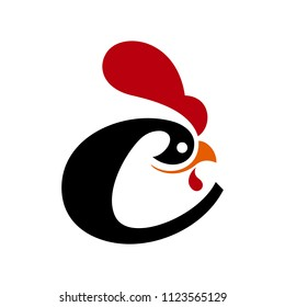chicken or rooster vector logo.