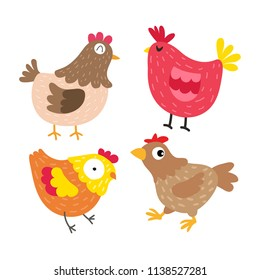 chicken vector collection design