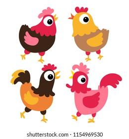 chicken vector collection design