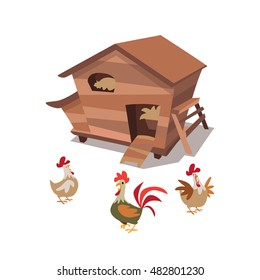 Chicken Coop Images, Stock Photos & Vectors | Shutterstock
