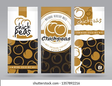 Chickpeas packaging set