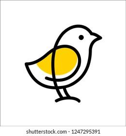 CHICKS logo vector icon template monoline color line art outline