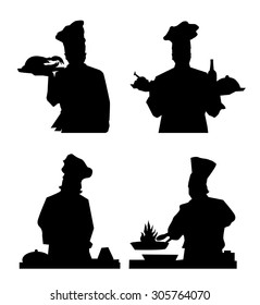 Chief Cook Silhouette Set