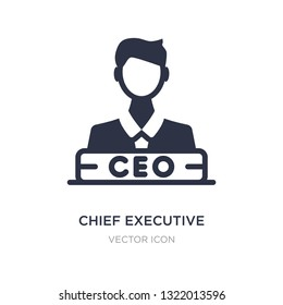 chief executive officer icon on white background. Simple element illustration from Business concept. chief executive officer sign icon symbol design.