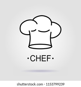 Chief hat icon on a gray background