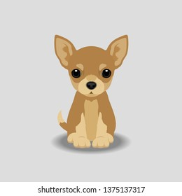 Chihuahua Puppy Vector Illustration. Dog isolated