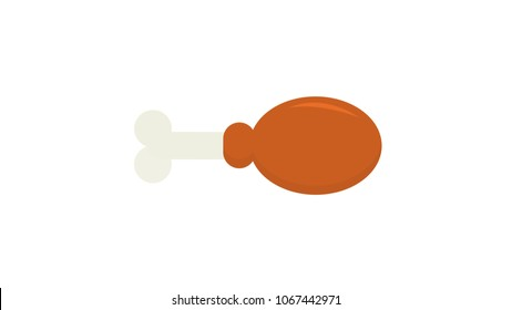 Chiken wing isolated vector illustration