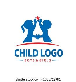 child boys girls logo