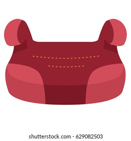 Child car seat 3 icon. Front view