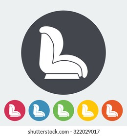 Child car seat icon. Flat vector related icon for web and mobile applications. It can be used as - logo, pictogram, icon, infographic element. Vector Illustration.