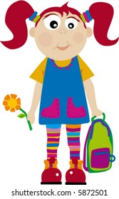 child cartoon in education small