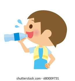 Child to drink water.