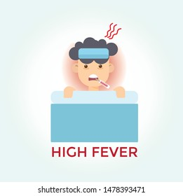 Child has got flu and high fever