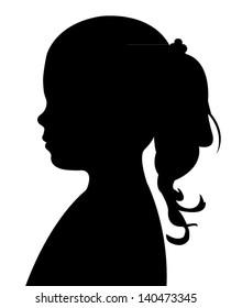 a child head silhouette vector