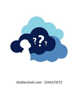 child kids question vector boy thinking. still do not understand concept illustrations