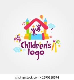 Child Logo template vector image