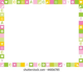 Child photo framework. Vector