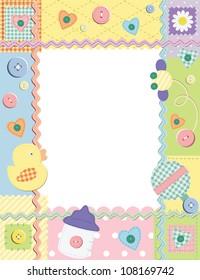 Child photo framework. Vector illustration