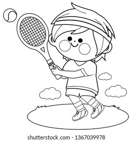 Tennis Coloring Pages Hd Stock Images Shutterstock