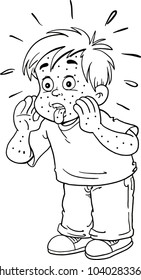 child with a rash on his body