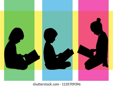 The child is reading a book.
