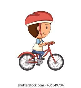 Child riding bike