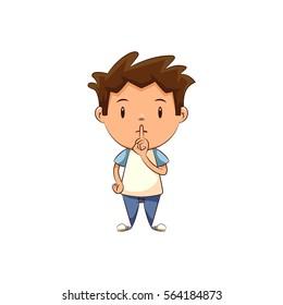 Child silence gesture