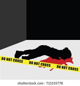 child silhouette murder violence illustration