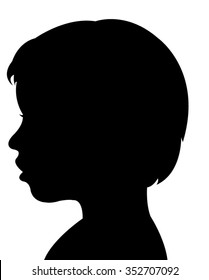 a child silhouette vector
