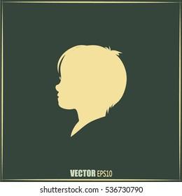 a child silhouette vector.