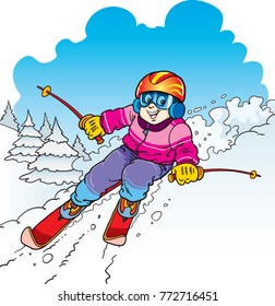 ski cartoon images, stock photos & vectors | shutterstock