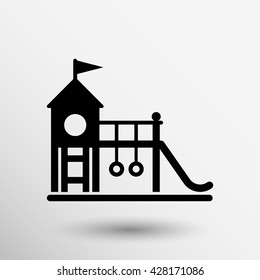 child teeter vector Icon playground symbol sing.