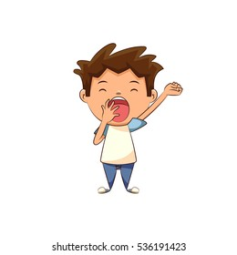 Child yawning