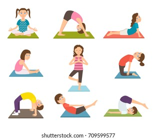 Child Doing Exercise Stock Illustrations Images Vectors Shutterstock