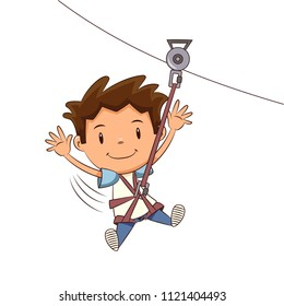 Child ziplining tour