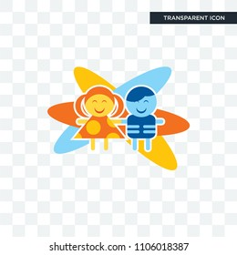 childcare vector icon isolated on transparent background, childcare logo concept