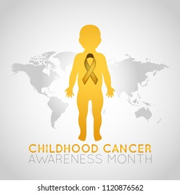 Childhood Cancer Awareness Month vector logo icon illustration