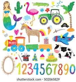 childhood doodle set