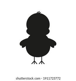 childish illustration of cute baby chick