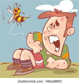 children bee stings
