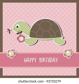 Children birthday card, vector