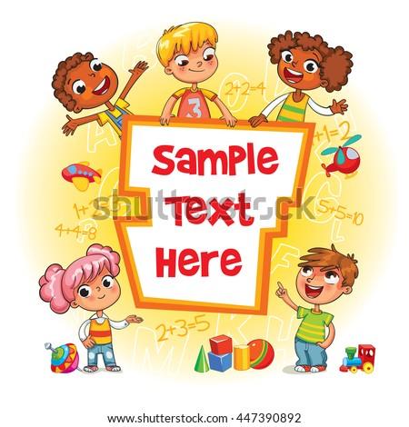 children book cover template advertising brochure のベクター画像