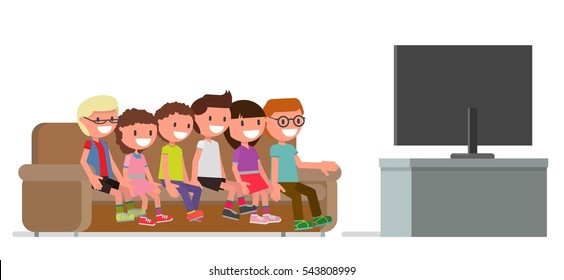 Cartoon Watching Tv