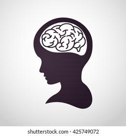 children brain logo vector