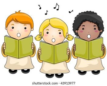 Transparent Choir Clipart Black And White - Children Choir, HD Png Download  - kindpng