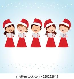 Children Christmas Choir. Christmas Carols.