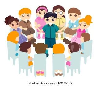 Children in Circle - Vector