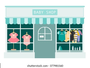 children clothes shop ,shops and stores icons,Vector illustration
