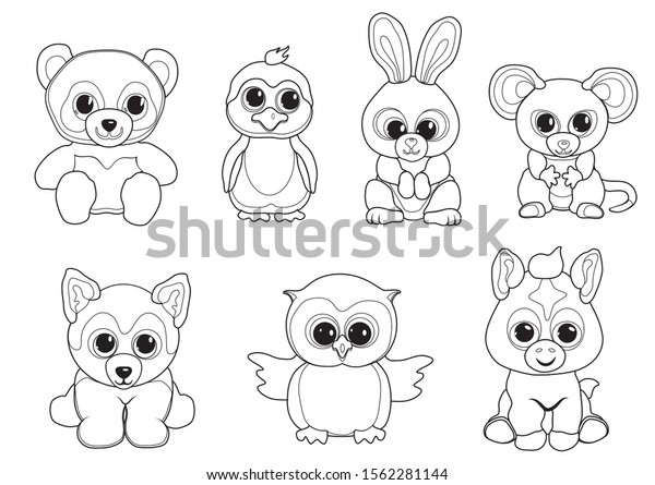 Cute Animal Coloring Pages | Cute animal drawings, Disney coloring ... | 445x600