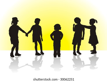 Children in a confidential interview
